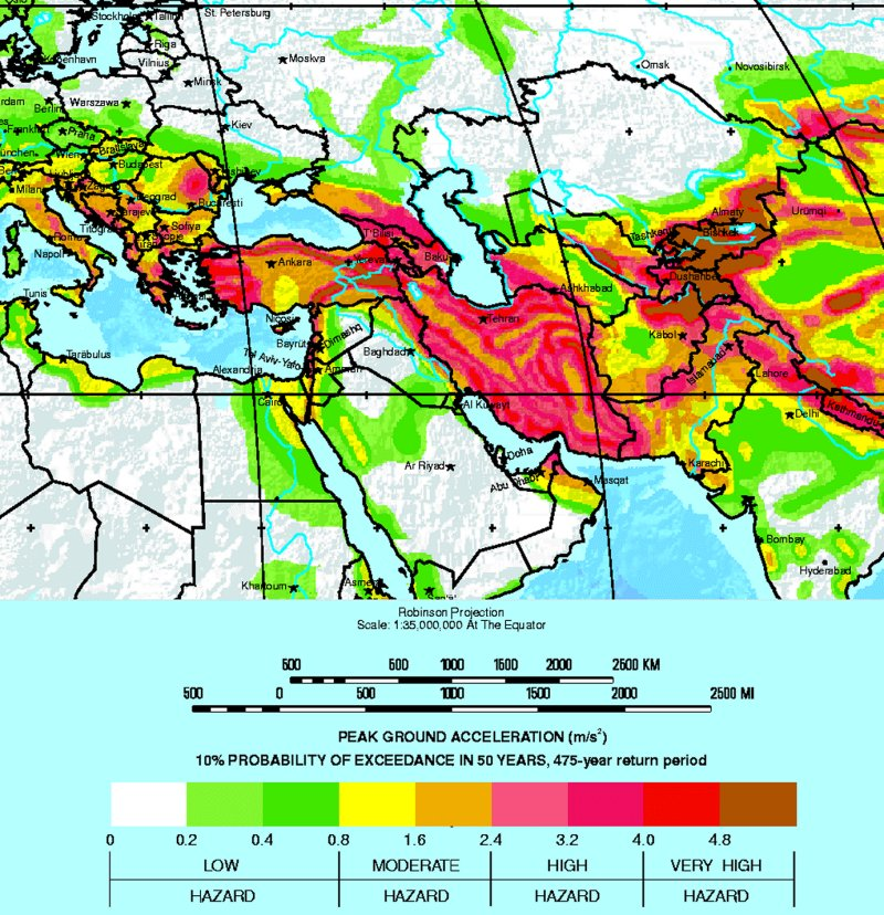 Middle east earthquake zone map 28 images gshap list of middle publicscrutiny Image collections