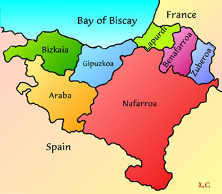 The Seven Regions of the Basque