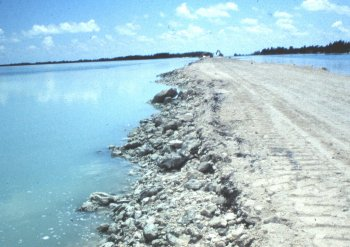 Causeway Created with Dredging Spoils