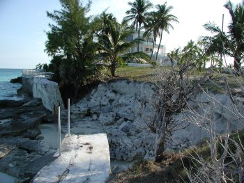 Example of erosion at Paradise Point