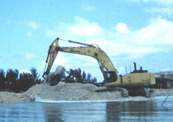 Dredge Digging the New Channel