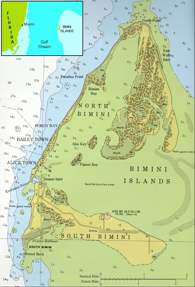 Fig 1. Map of North and South Bimini w/ Inset