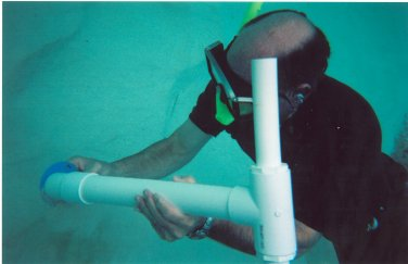 Taking a deep water sample