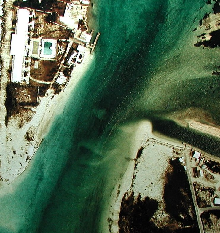 Aerial Photograph of Bimini Inlet Channel